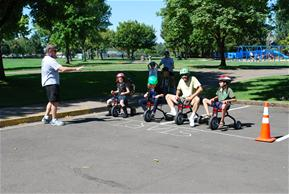 kids racing tricycles