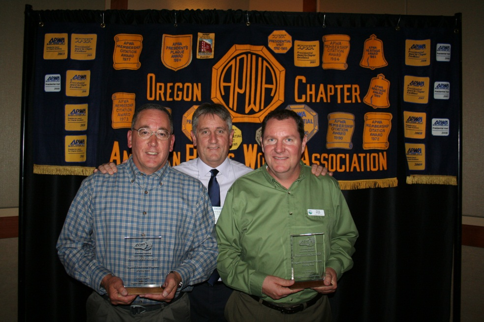 Oregon Chapter APWA Project of the Year DEP Shirley