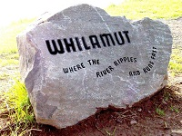 "Talking stone with word ""whilamut"""