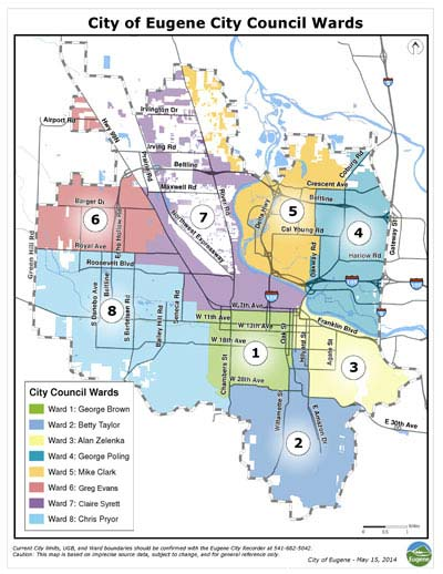 Eugene City Council Ward Map
