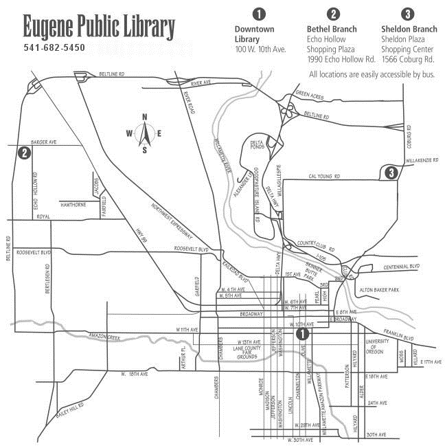 Eugene Public Library Map