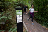 ridgeline trail hikers