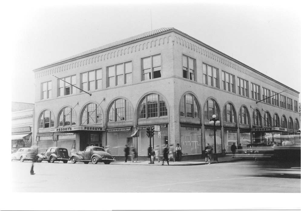Historic photograph of a Penney's storefront