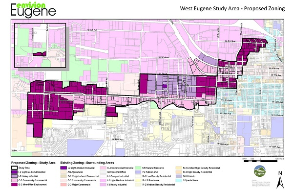 West Eugene Proposed Zoning