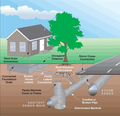Wastewater Collection System Graphic