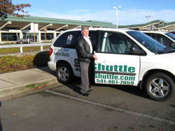 Airport shuttle and driver