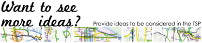 Link to the feedback form for the Transportation System Plan - Eugene