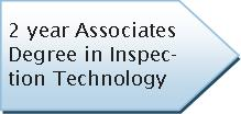 Graphic - 2 Year Associates Degree in Inspection Technology