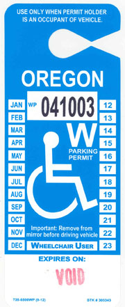 Wheelchair User Permit