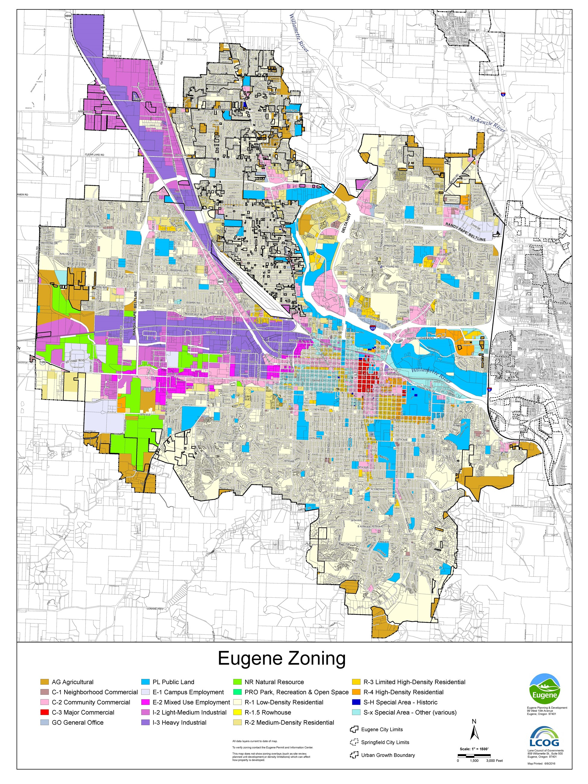 zoning map eugene or website