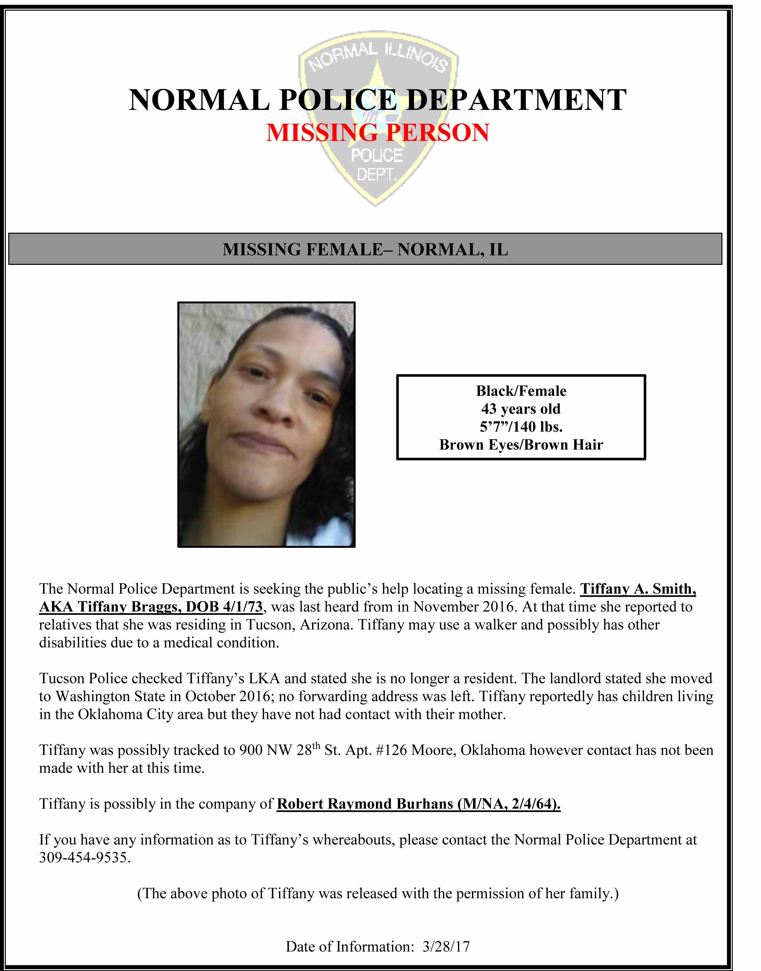Eugene OR Website – Missing Person Flyer