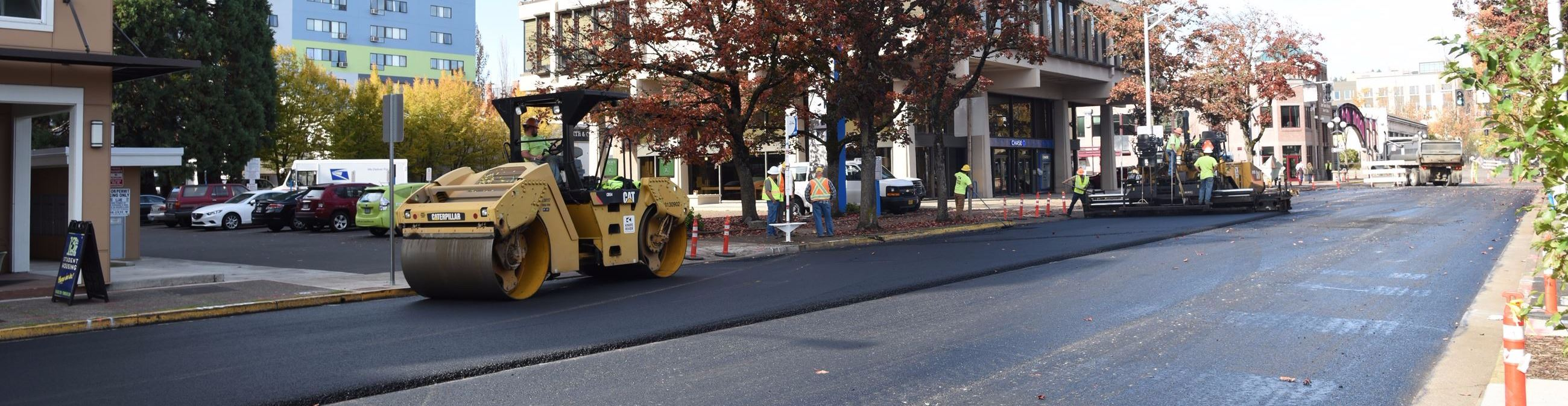 Repaving Willamette Street in Downtown