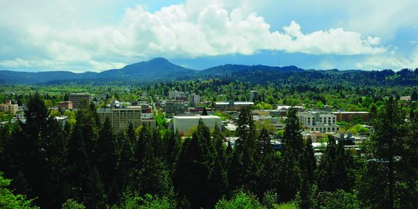 View of Eugene from Skinner Butte - Photo credit Vern Rogers