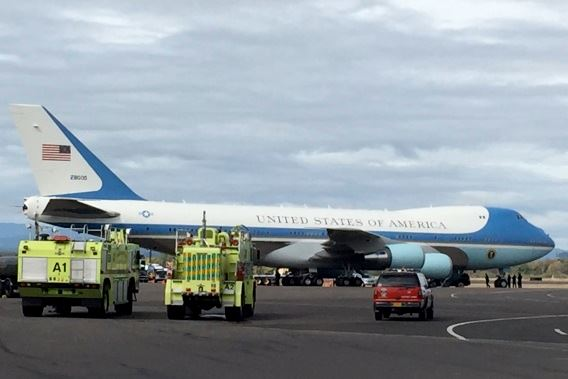 Air Force One with ARFF