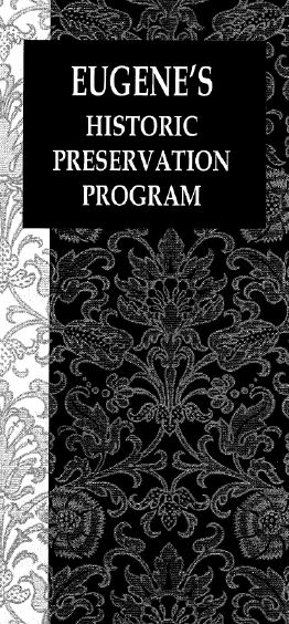 Historic Preservation Program Brochure