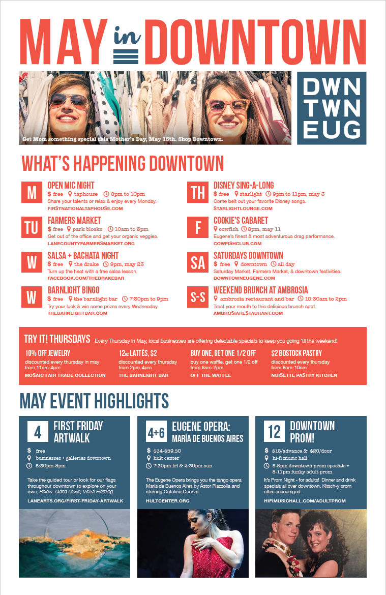 May 2018 - Downtown Eugene Events