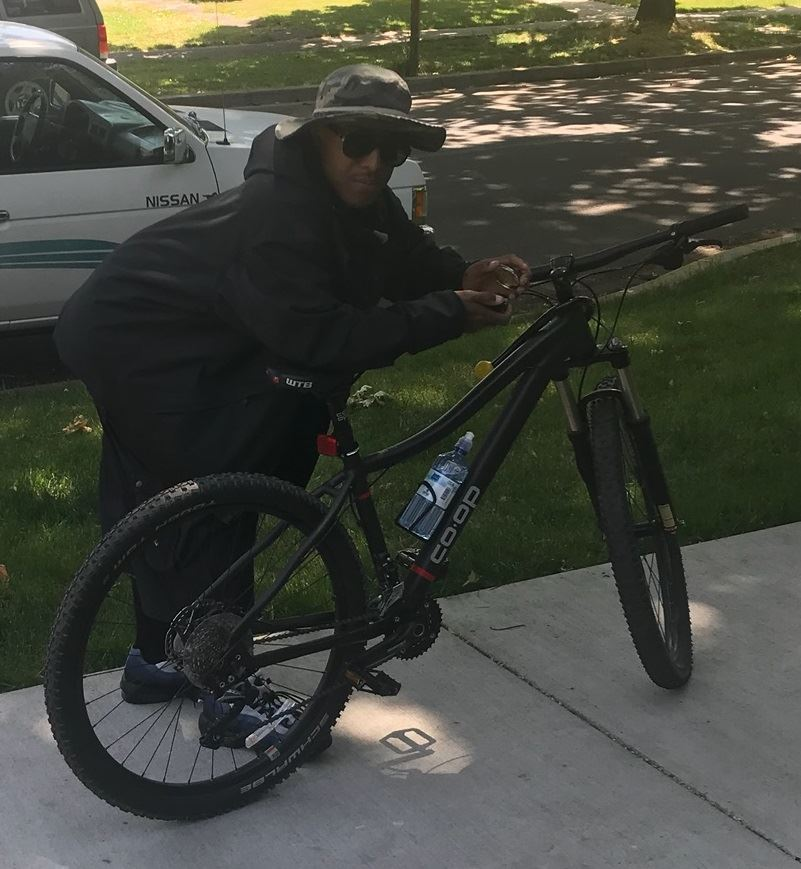 Haywood on bike