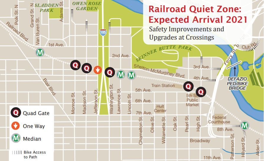 Safety improvements to be made at the rail crossings for the quiet zone