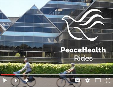 Two riders using PeaceHealth Rides bikes
