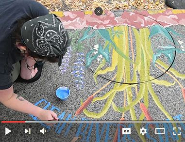 Video on Video about upstream art project to educate about the importance of keeping our rivers clean