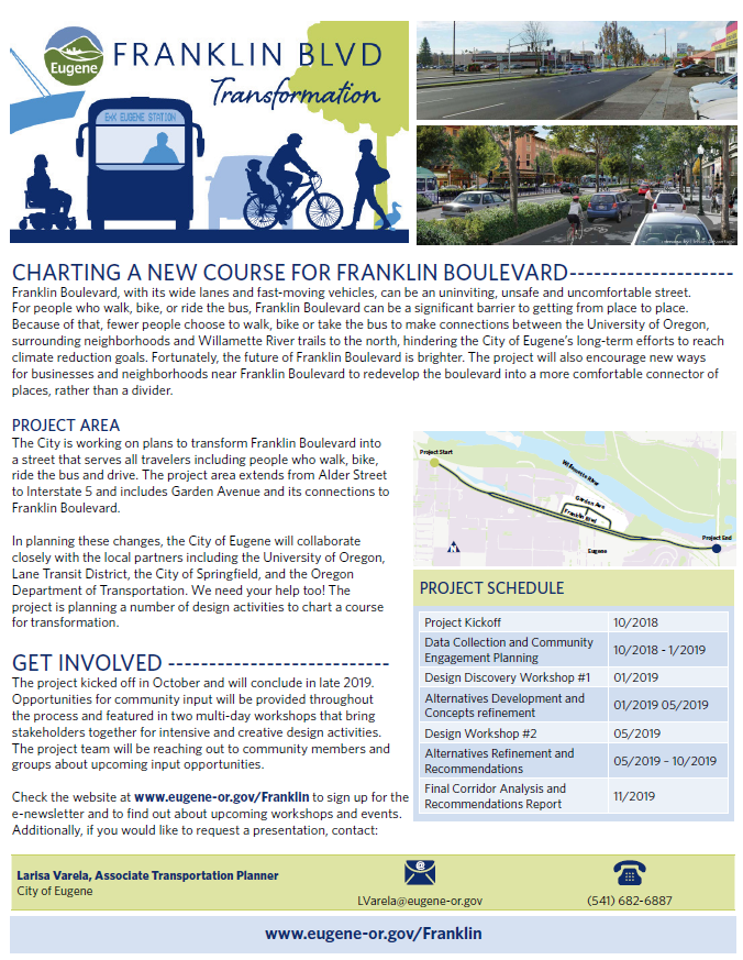 Franklin Blvd Transformation Factsheet