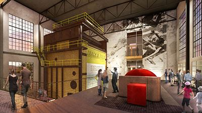The repurposed Steam Plant could become a cultural space.