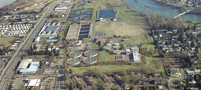 Aerial view of Wastewater Pollution Control Facility