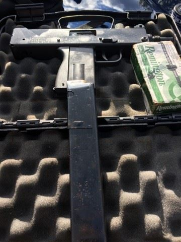 Mac 9 automatic firearm seized