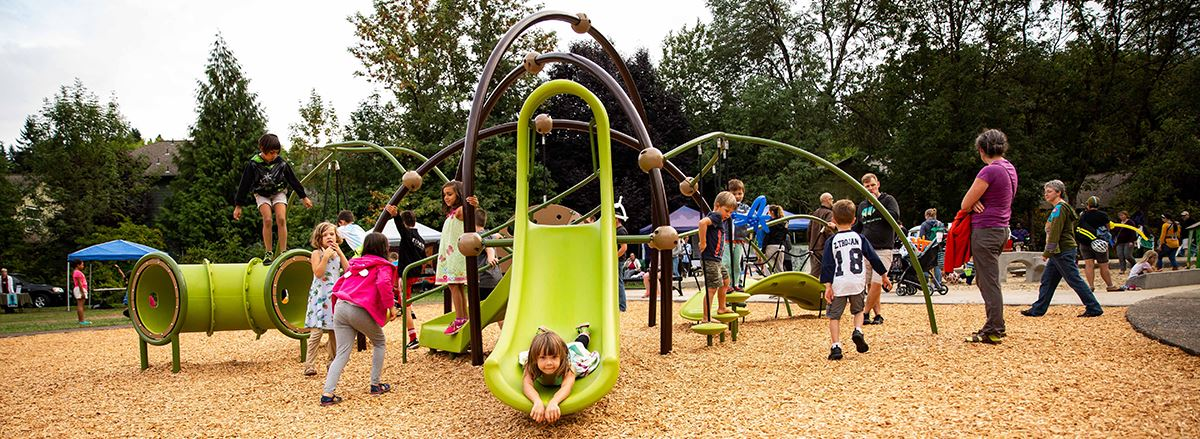 Tugman Park playground recently reopened following a major renovation funded by the 2018 Parks and Recreation Bond and Levy.
