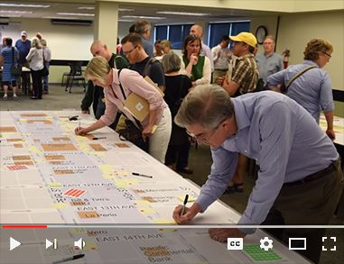 Video on Vimeo about the public engagement process for the Central Eugene in Motion project