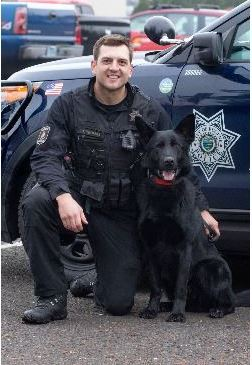 Officer Jacob Thomas and his K9 Ayk