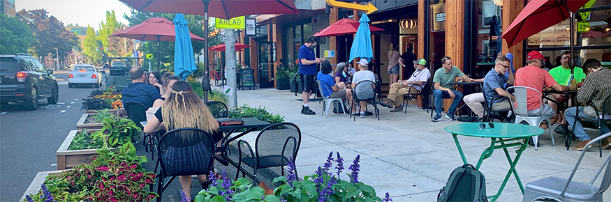 Claim 52 has extra outdoor seating thanks to the City of Eugene's streatery program.