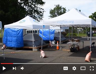 Video on YouTube at the Designated Temporary Shelter Sites set up during the initial response to COV