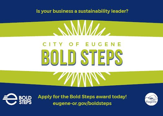 Eugene-area businesses can apply for the Mayor's annual Bold Steps Award