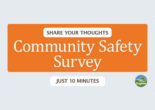 Share your thoughts in a community safety survey that will take 10 minutes.
