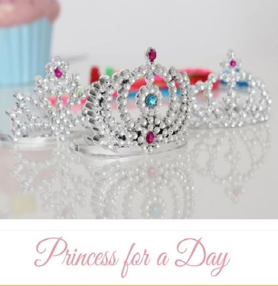 Tiara and cupcake picture for Princess for a Day Event