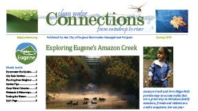 Newsletter cover and article about Amazon Creek