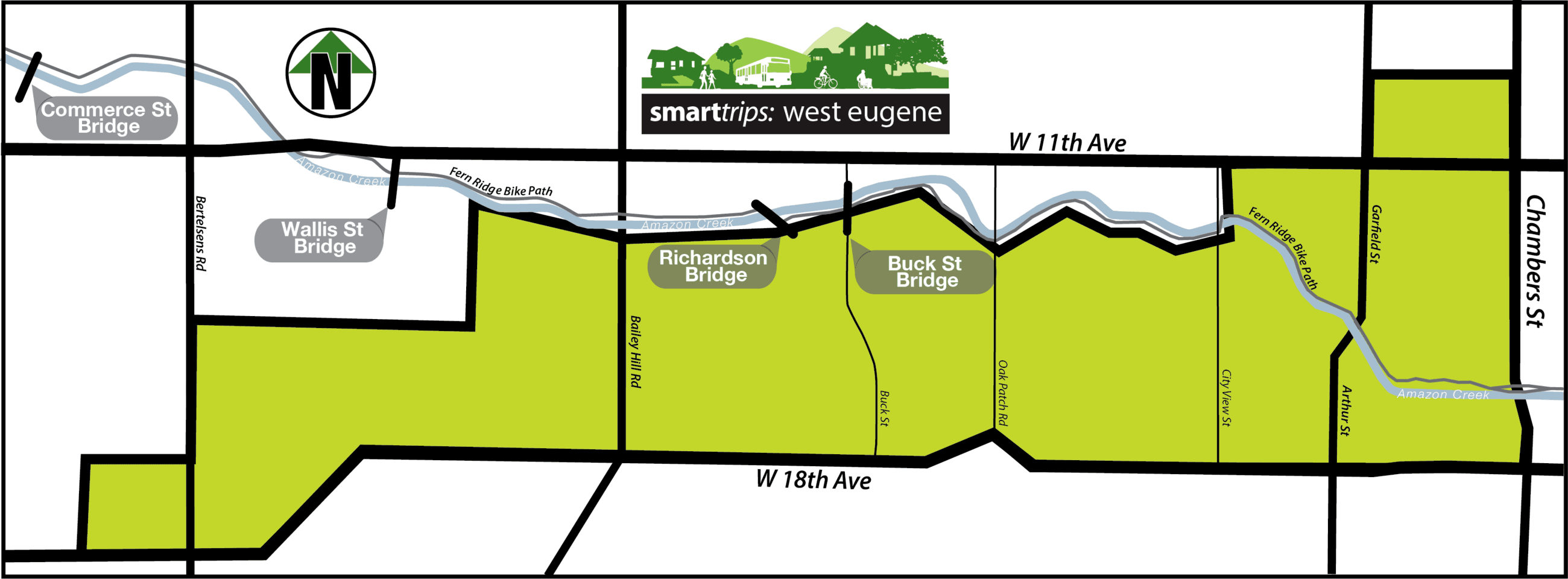 Smart Trips West Eugene Area Map