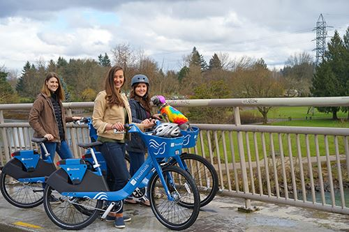 PeaceHealth Rides Bike Share in Alton Baker Park