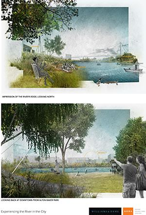 Experiencing the River in the City Poster - Williams/Dames & Assoc