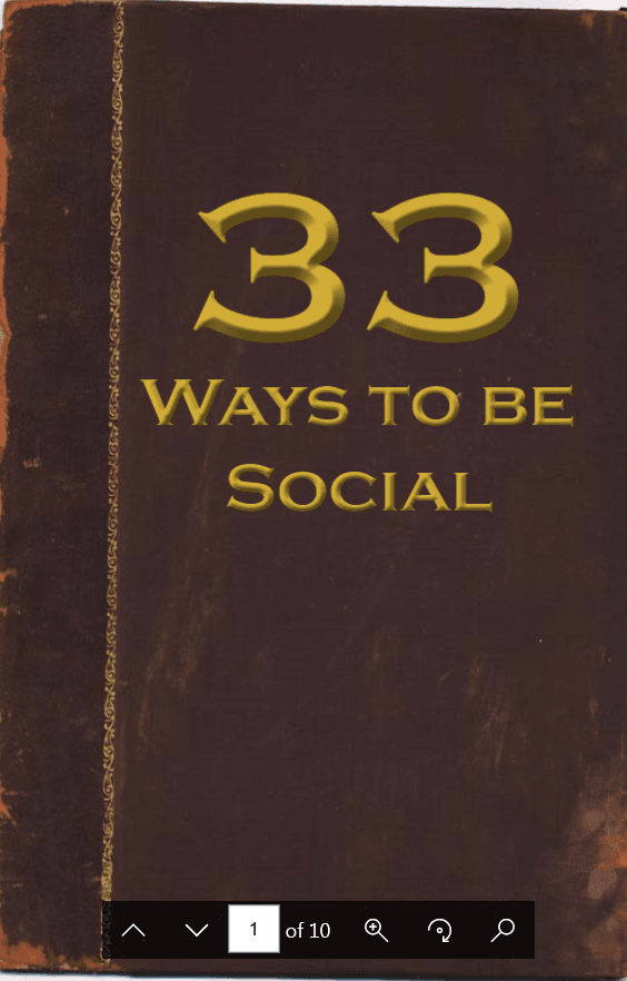 33 Ways to Be Social