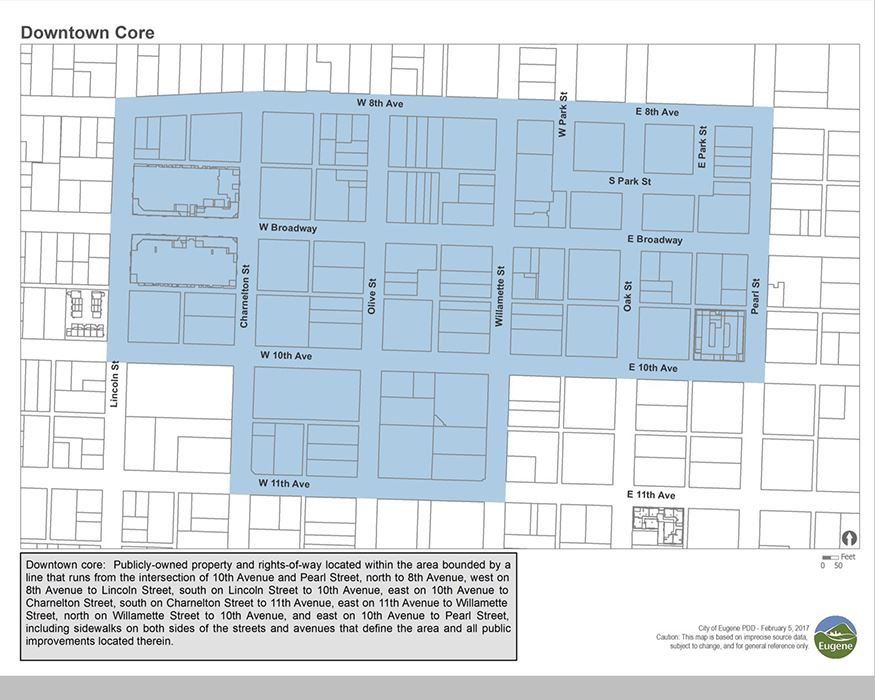 Map of downtown core