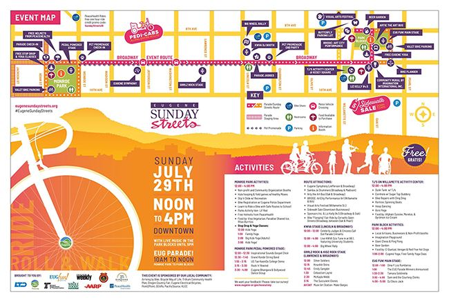 2018 Downtown Sunday Streets Map