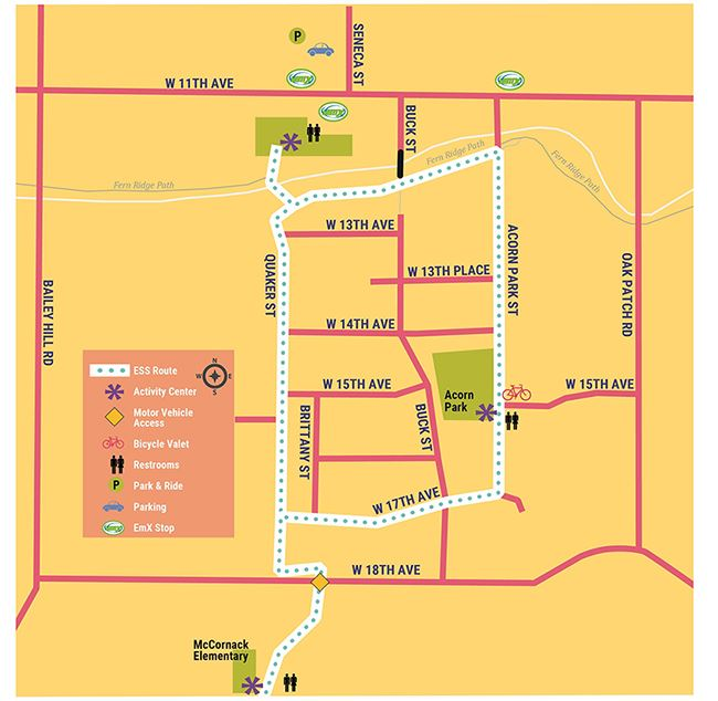 2018 West Eugene/Churhill Sunday Streets Map
