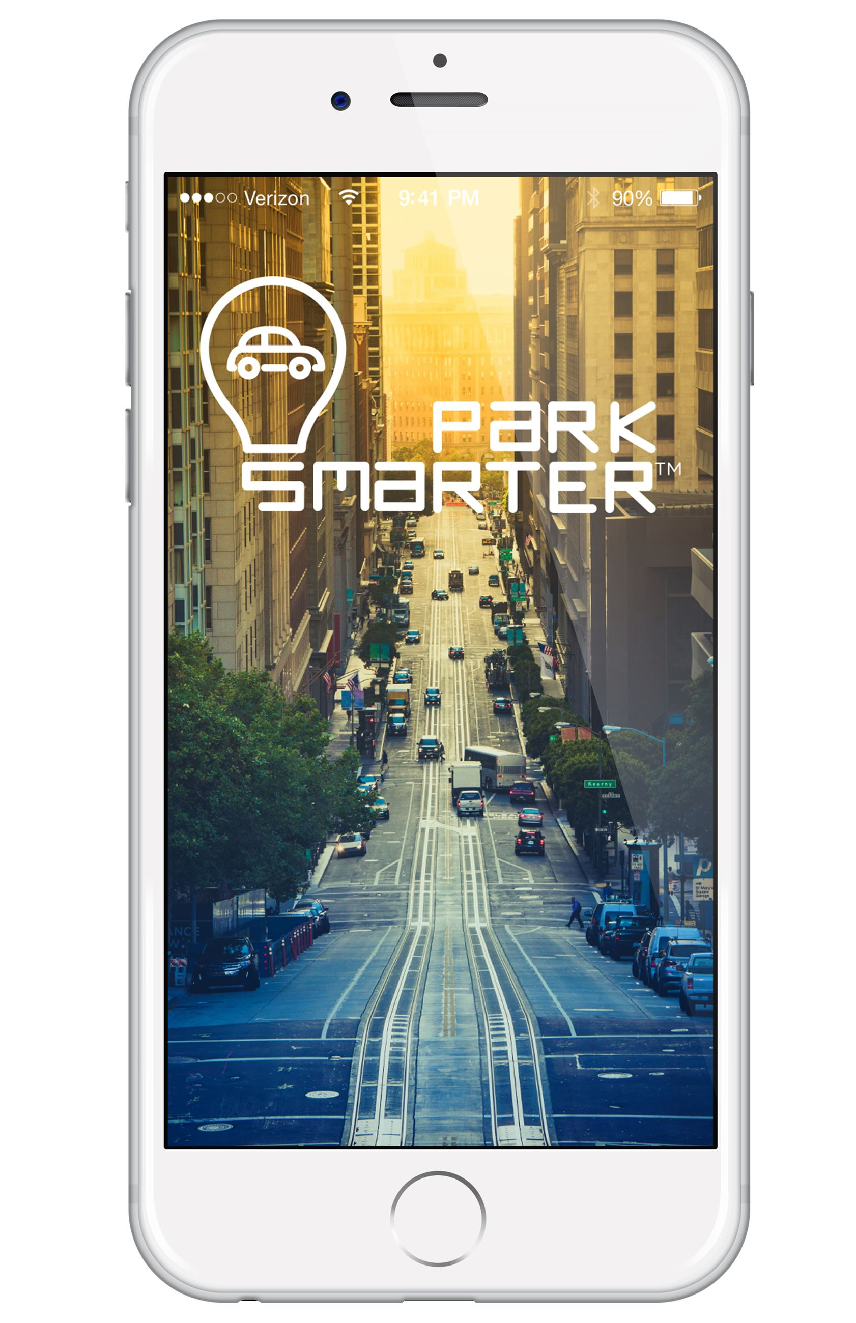 Park Smarter logo on a Phone Opens in new window