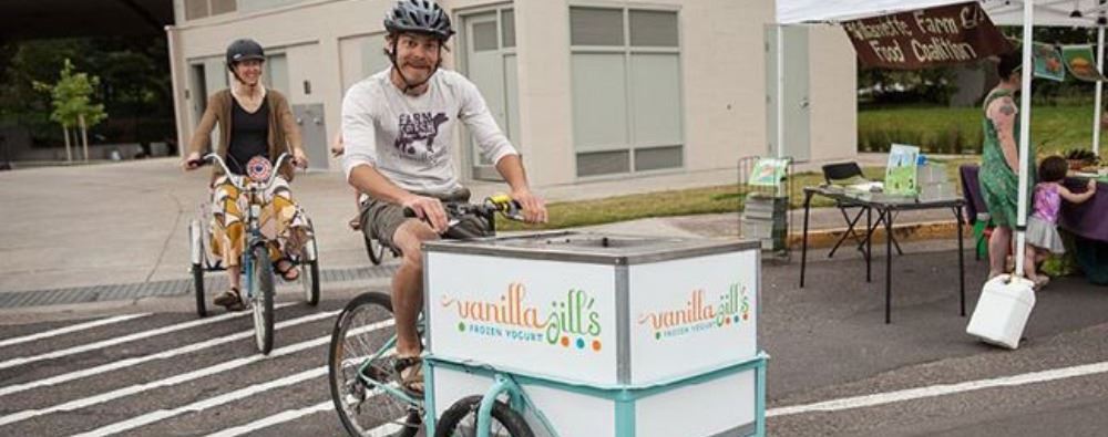Vanilla Jills bicycle-powered food cart