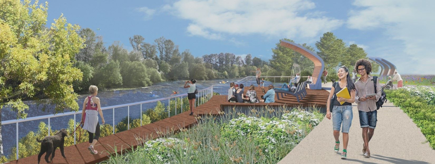illustration of riverfront seating Opens in new window
