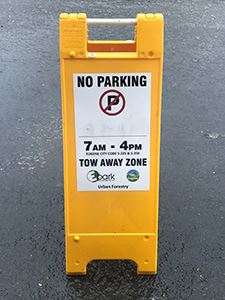 If a no parking two away sign appears, please move you car to make way for crews responding to downe