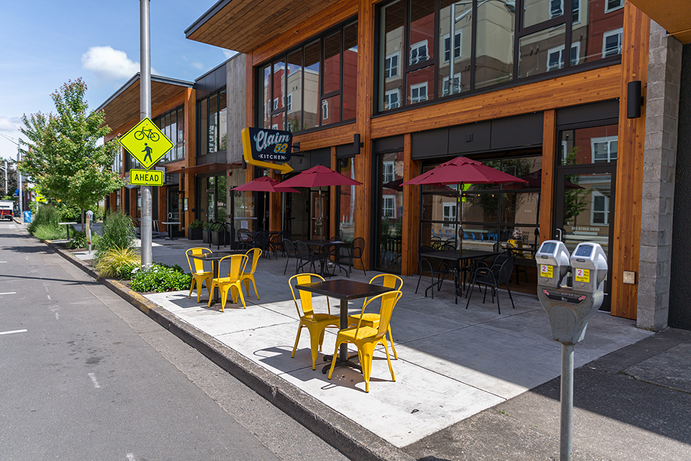 The City is exploring options to provide businesses with access and use of outdoor space surrounding