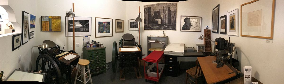 Whiteaker Printmakers letterpress room